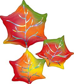 "30"" Iridescent Leaves"