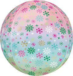 "16"" Ombre Snowflakes Orbz"