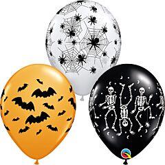 """11"""" Spooky Design Latex Asst"""
