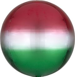 """16"""" Ombre Red & Green Orbz"""