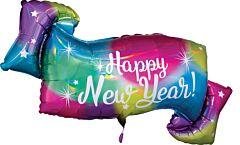 "39"" Iridescent Happy New Year Banner"