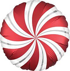 "18"" Satin Sangria Candy Swirl"