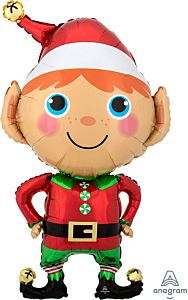 """35"""" Happy Christmas Elf"""