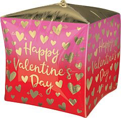 "15"" HVD Ombre with Gold Hearts Cubez"