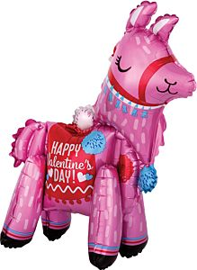 "22"" Standing Valentine Llama Consumer-Inflated"
