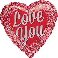 """18"""" Love You Confetti"""