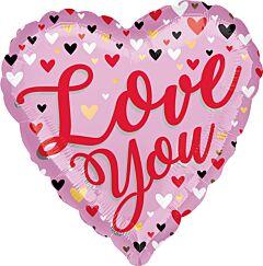 "18"" Love You Small Hearts"