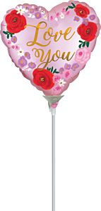 """9"""" Satin Love You Floral"""