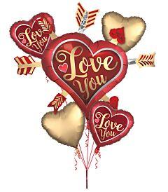 Bouquet Satin Love You Arrows