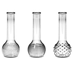 "8.5"" Bud Vase Assortment - Crystal"