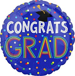 """28"""" Congrats Grad Dots Jumbo"""