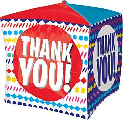 "15"" Thank You Streamers Cubez"