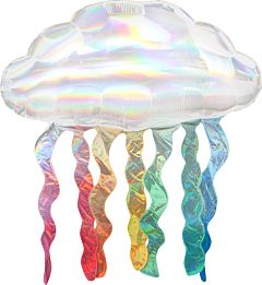 """30"""" Iridescent Cloud With Streamers"""
