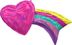 "33"" Iridescent Rainbow With Heart"