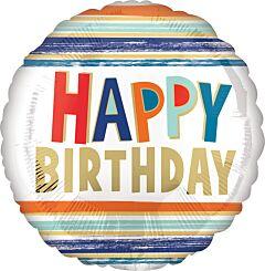 Happy Birthday Letters & Stripes