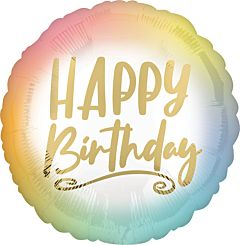 Ombre & Gold Happy Birthday