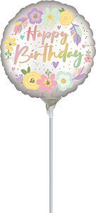 "4"" Boho Birthday Flowers"
