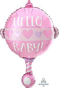 """24"""" Baby Girl Rattle"""