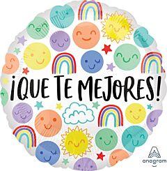 "17"" Que Te Mejores Happy Doodles"