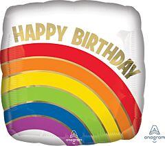 Birthday Gold Rainbow