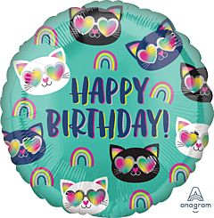 Cool Kitty Rainbow Birthday