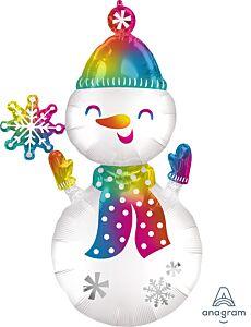 """55"""" Satin Snowman"""