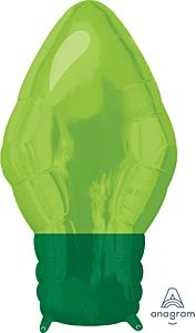 "22"" Green Xmas Light Bulb"
