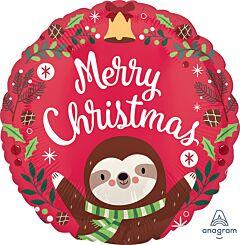 """17"""" Sloth Christmas"""