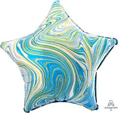 "19"" Marblez Blue Star"