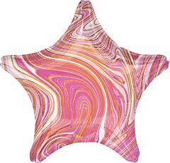 """19"""" Marblez Pink Star"""