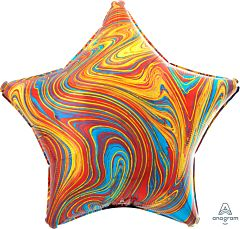 "19"" Marblez Colorful Star"