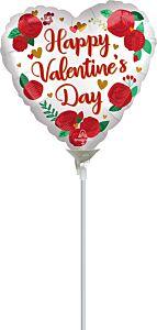"4"" Satin Valentine Roses"