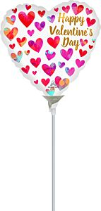 "9"" Valentine Painterly Hearts"