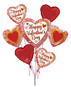 Bouquet HVD Marble Heart Trio