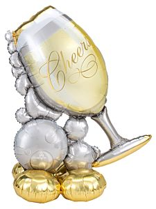 """51"""" Bubbly Wine Glass AirLoonz"""