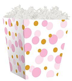 Treat Box - Pink And Gold Dots