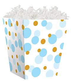Treat Box - Blue And Gold Dots