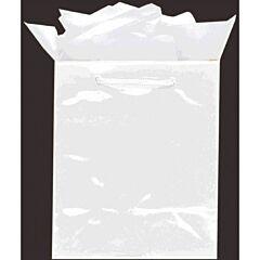 9X7X4 Glossy Bag - White