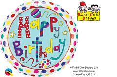 "18"" Rachel Ellen Birthday Polka Dot/Stripe"