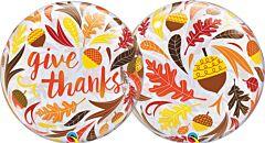 "22"" Give Thanks Acorns Bubble"