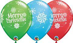 """Qualatex 11"""" Christmas Snowflakes Latex"""