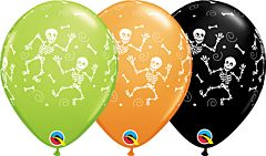 "11"" Qualatex Fun Halloween Skeletons Latex"