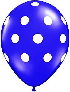 """16"""" Big Polka Dots Latex - Purple"""