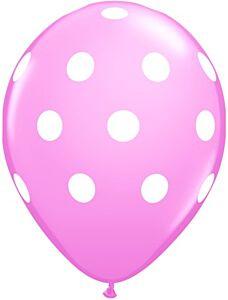 """16"""" Big Polka Dots Latex - Pink"""