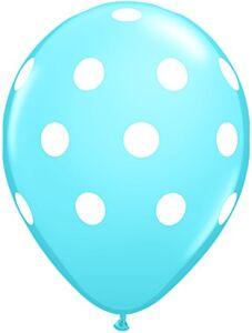 "16"" Big Polka Dots Latex - Pale Blue"
