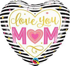 """18"""" Love You Mom Stripes"""