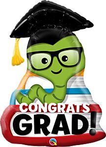 """37"""" Congrats Grad Bookworm"""
