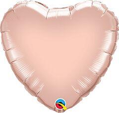 "9"" Rose Gold Heart"