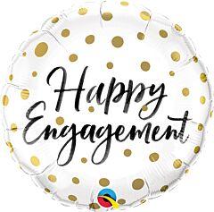 "18"" Engagement Gold Dots"