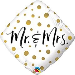 """18"""" Mr. and Mrs. Gold Dots"""